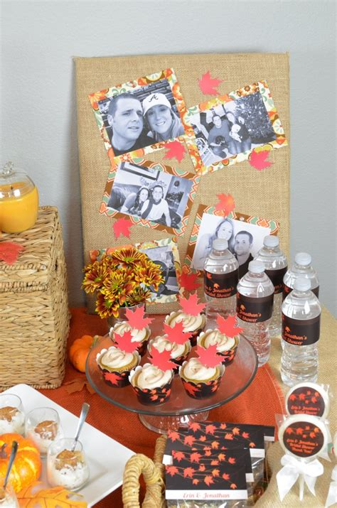 fall themed wedding shower ideas fall in bridal shower theme candles and favors