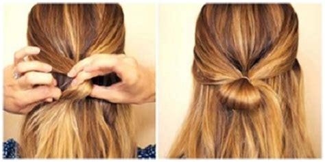tutorial ikat rambut cepol tutorial rambut gaya ikat pita unik dan modern