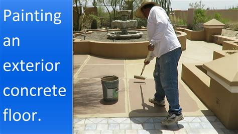 how to paint exterior concrete painting exterior concrete patio