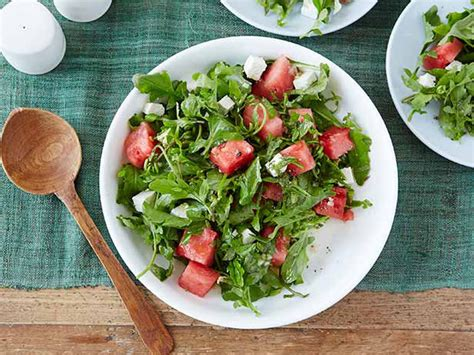 barefoot contessa arugula salad arugula watermelon and feta salad recipe ina garten