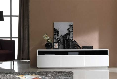 contemporary tv stand in oak or white gloss finish