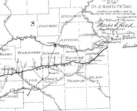 map of oregon trail through kansas kansas historic trails west kansas ks santa fe