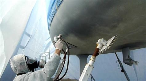 boat bottom spray paint hvlp yacht paint spray youtube