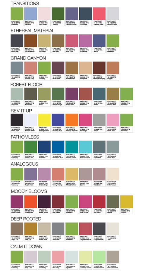 pantone palette 2017 greenery a cor de 2017 eleita pela pantone studio w