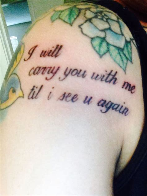 until i see you again tattoo 17 best images about tattoos on fonts small