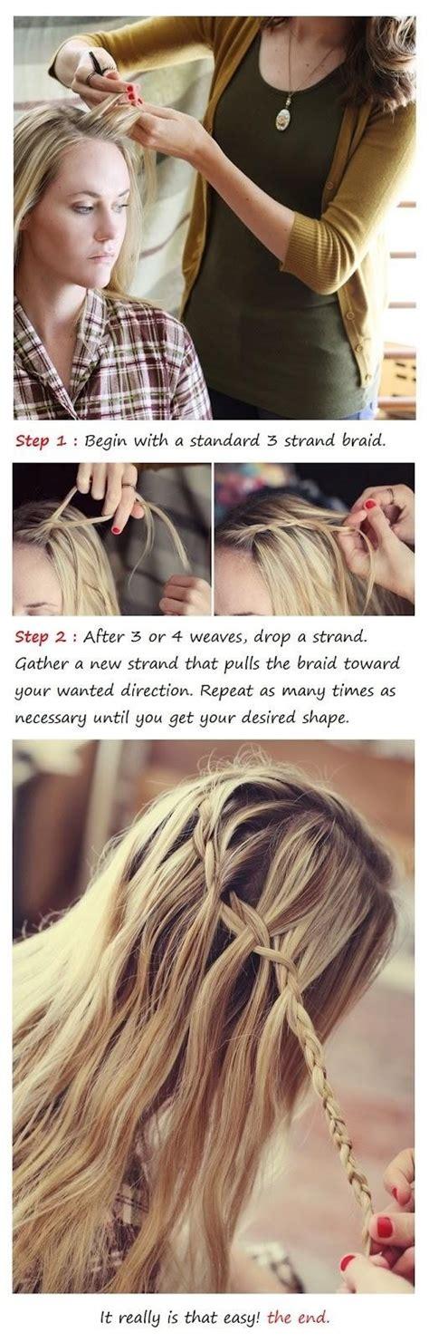tutorial waterfall braid trendy braids waterfall braid tutorial popular haircuts