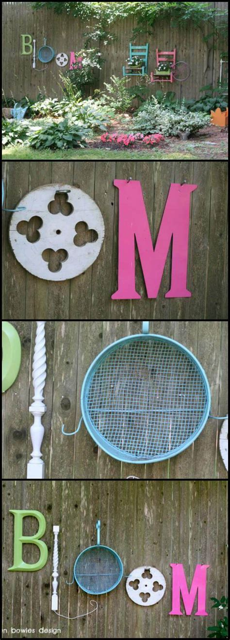 a new bloom diy and craft projects home interiors style and recipes diy breakfast nook 25 diy fence decorating ideas projects page 3 of 5