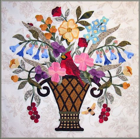 Flower Basket Quilt Pattern by Quilt Inspiration Basket Quilts Part 2