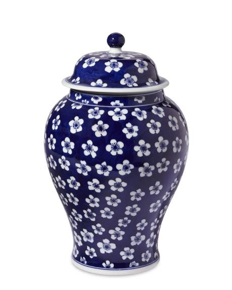 blue ginger jars blue white ginger jar with lid 12 quot urn williams sonoma