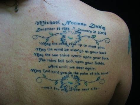 tattoo quotes for remembering a loved one memorial tattoos help the bereaved remember lost loved