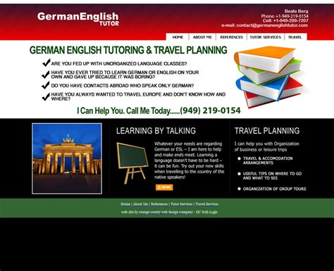 english tutorial online website german english tutor orange county web design stark logic