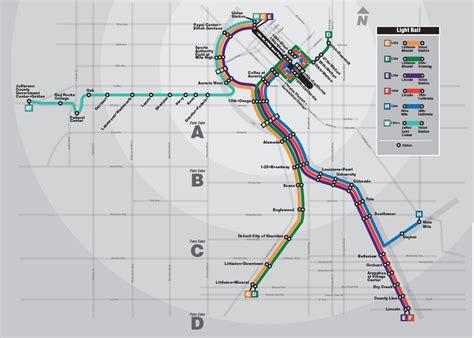 rtd light rail routes official map update denver rtd light rail