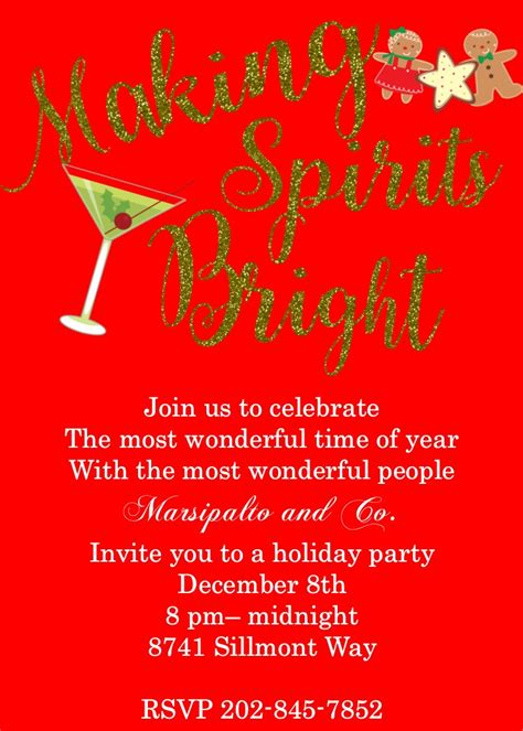 elegant christmas party invitations sansalvaje com