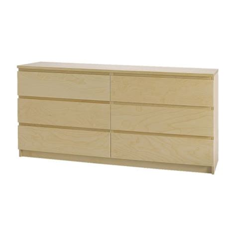 malm 6 drawer dresser birch veneer ikea