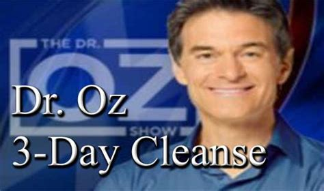 Tummy Detox Dr Oz by Dr Oz 3 Day Cleanse To Detox And Lose Weight Z6mag