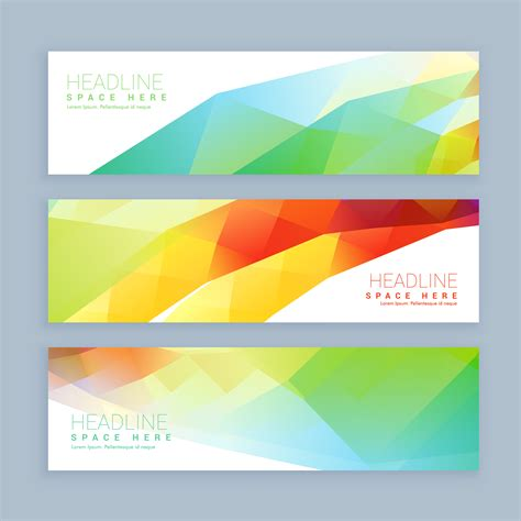 header design sle colorful abstract header and banners download free