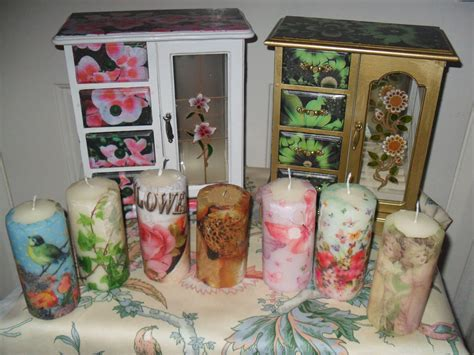 decoupage candele decoupage candles decopatch ideas