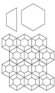 10 half hexagon template paper piecing hex and half hex pattern from