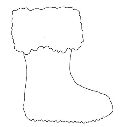 santa boot template free coloring pages of santa boot