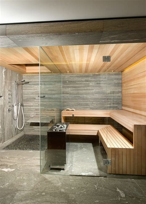 Kitchen Designers London by Kung Saunas Installs Contemporary Bathroom London