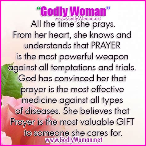 a godly woman understands that prayer is the most powerful