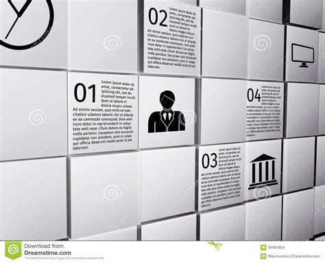 infographic wall abstract cubes infographic design elements stock vector
