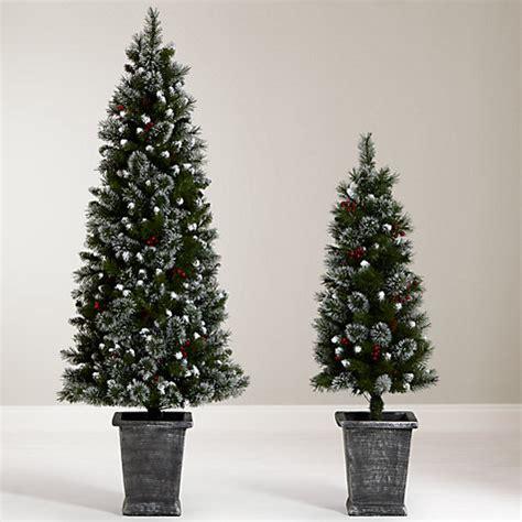 buy john lewis pre lit potted christmas tree 4 5ft john