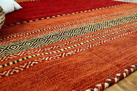 kelim teppich natur teppich kelim navarro rot orange teppiche nepal