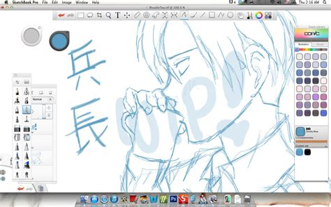 sketchbook pro resolution sketchbook pro screenshot rivaille wip by