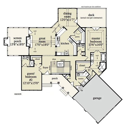 4 Bedroom, 3 Bath Cabin & Lodge House Plan   #ALP 095M