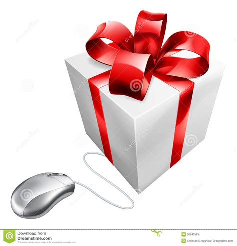 gift shopping present mouse gift shopping stock vector image