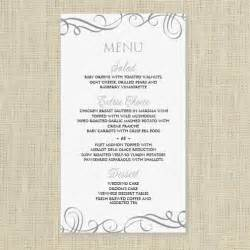 Free Menu Card Templates by Wedding Menu Card Template Instantly By