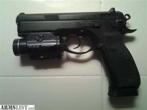 Tlr3 Light Armslist For Sale Cz 75 Sp 01 Tactical 9mm With Tlr 2