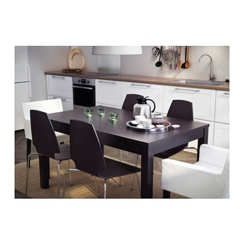 tavolo bjursta bjursta extendable table brown black 140 180 220x84 cm ikea