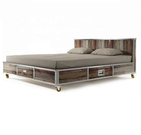 gray king size platform bed  drawers  bookcase