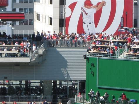 green standing room nationals park seating two helpful tips mlb ballpark guides
