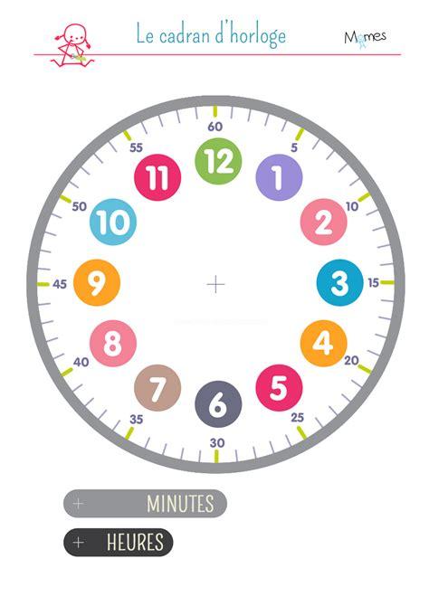 Fabriquer Horloge by Cadran D Horloge 224 Imprimer Momes Net