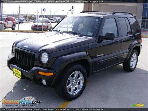 black jeep liberty 2003 2003 jeep liberty limited black clearcoat light taupe