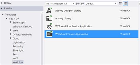 visual studio 2013 workflow tutorial creating workflow application with visual studio 2013