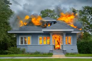 ends up burning his house instead of killing a spider