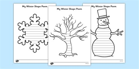 creative word document templates winter shape poetry winter poetry winter poetry winter