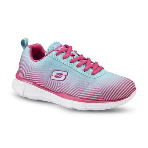 skechers s expect miracles pink blue chevron striped