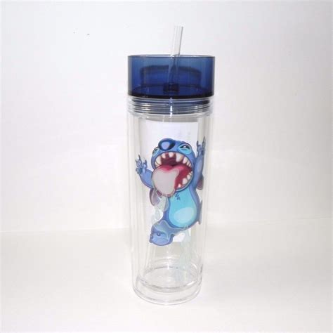 Tumtum Water Bottle Scurff disney parks authentic lilo and stitch cup tumbler drink