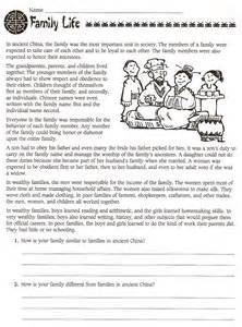 6th grade social studies ancient china worksheets free