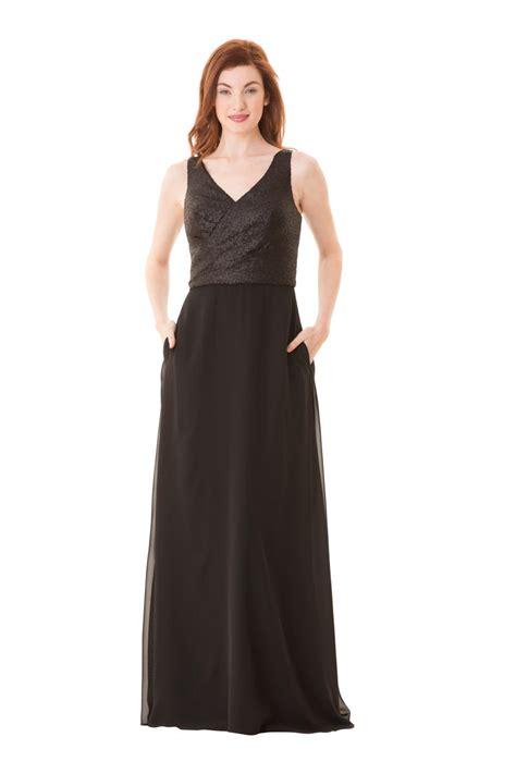V Bj Rina Wolfis bari 1680 sequin v neck and chiffon bridesmaid dress novelty