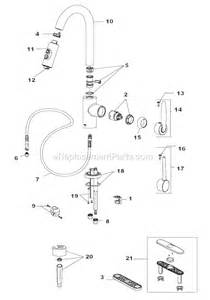 Delta Kitchen Faucet Parts List Delta Faucet 985lf Parts List And Diagram Ereplacementparts