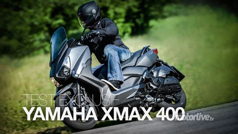test exclusif yamaha xmax  youtube