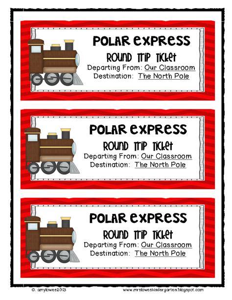 printable polar express tickets kindergarten mrs lowes kindergarten korner ho ho holiday math and
