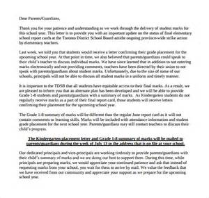 Report Letter To Parents Thank You Letter To Parents 9 Free Documents In Pdf