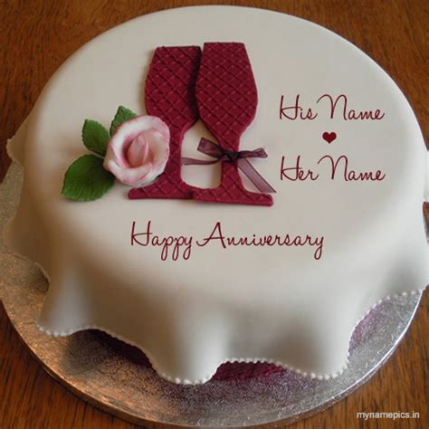 Wedding Cake With Name by Write Your Name On Wedding Anniversary Cake Profile Pic